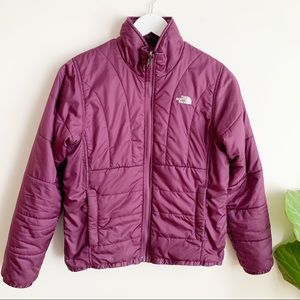 The North Face Jacket Puffer Purple Light Weight S